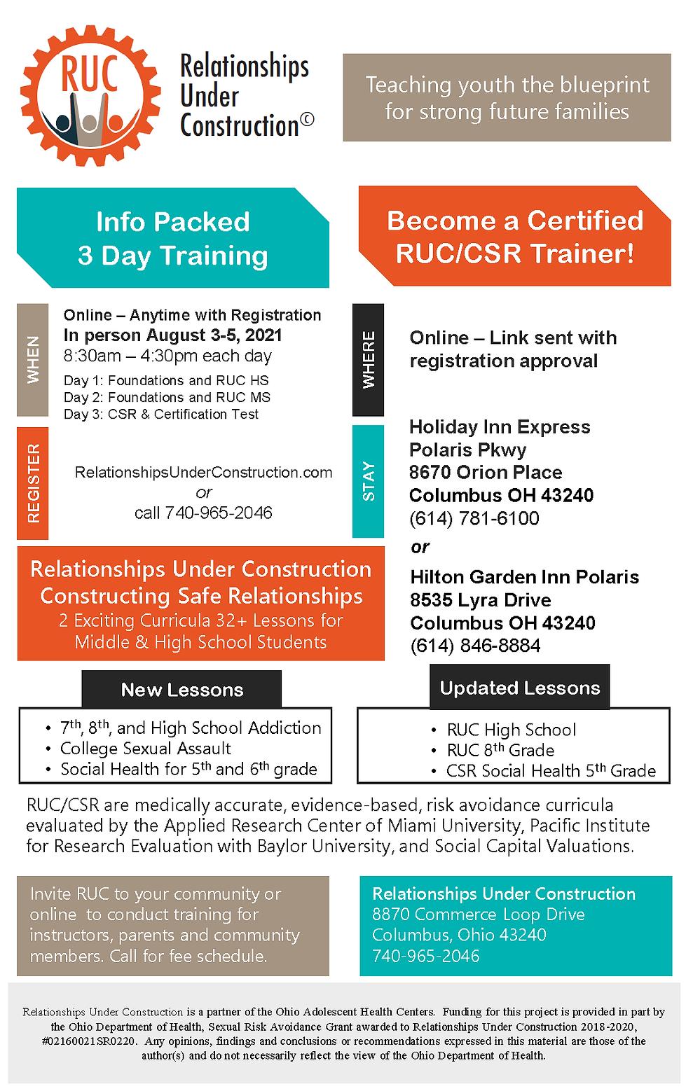 RUC Certification Training 2021 Flyer.pn