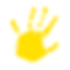 Big Hearts Little Hands Tetimonial Handprint Yellow