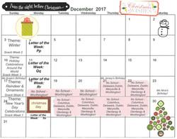 2017-12 December Calendar