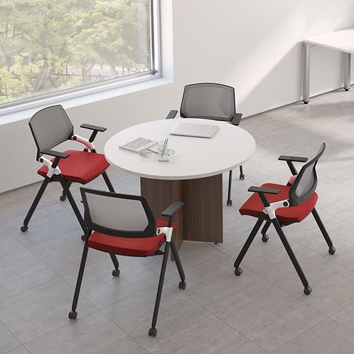 Office Source Laminate Round Table w/ X-base
