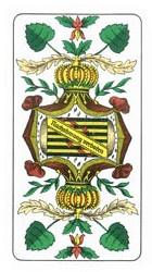 Daus de feuille d'un jeu de cartes