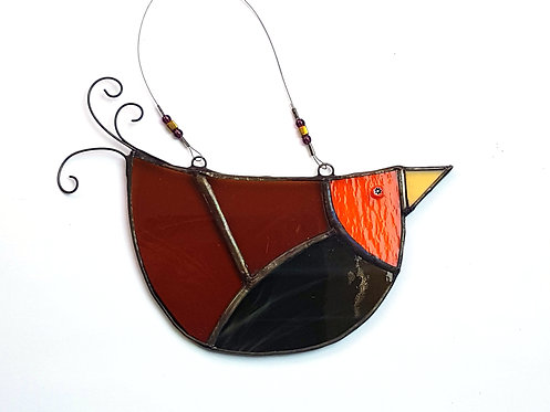 Orange Faced Stained Glass U-bird