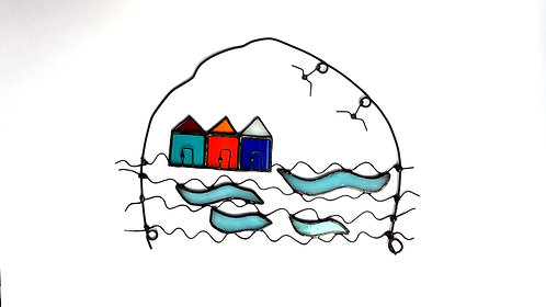 Wire Art Beach Huts