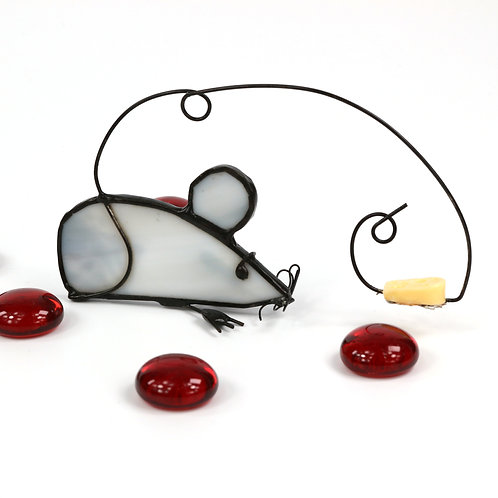Mouse with Yellow Cheese