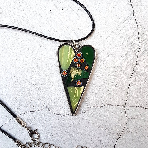 Shades of Green Heart Pendant