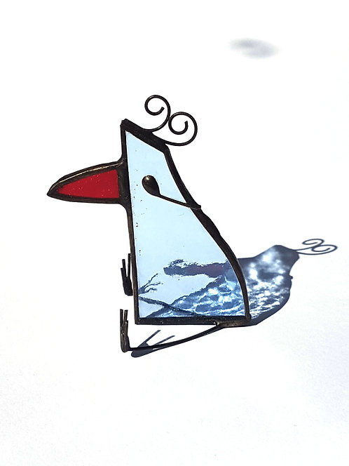 Pale Blue Stained Glass Bird