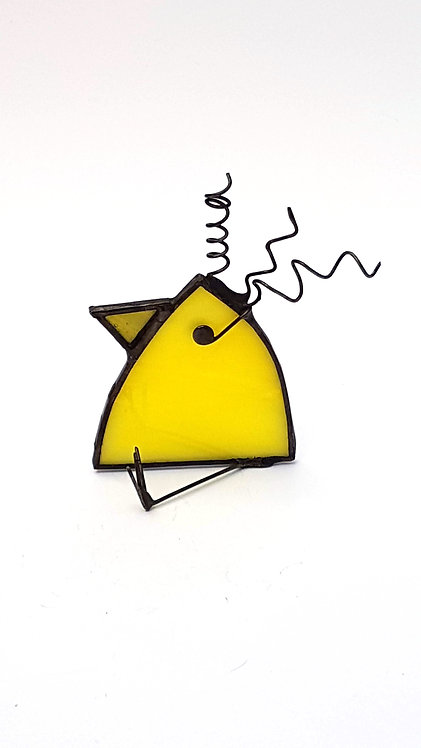 Yellow Stained Glass Bird