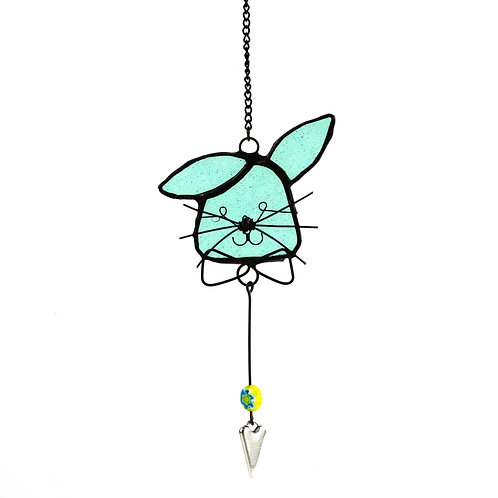 Bow Tie Bunny with Heart Charm