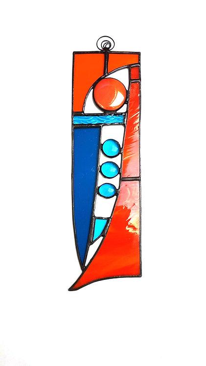 Orange Stained Glass Suncatcher