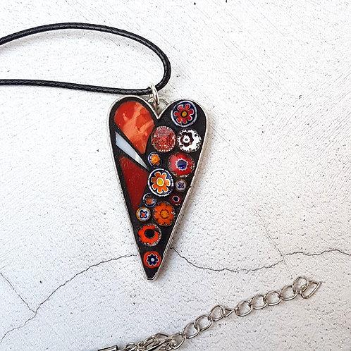 Flower Garden Heart Pendant