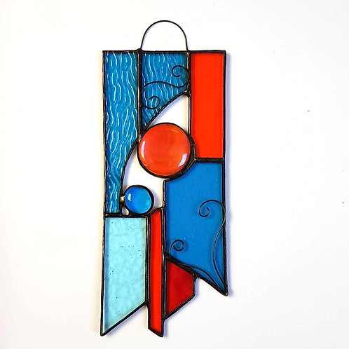 Teal Stained Glass Suncatcher
