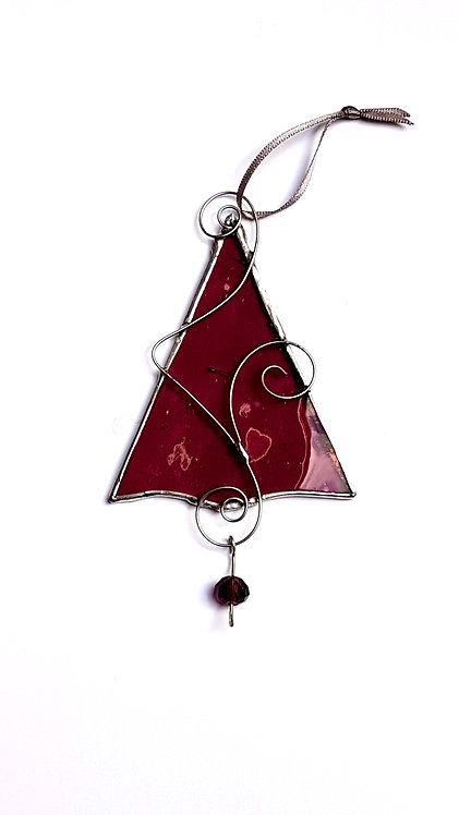 Plum Christmas Tree Ornament