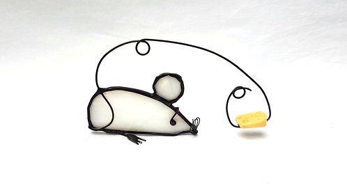 White Mouse with Cheese