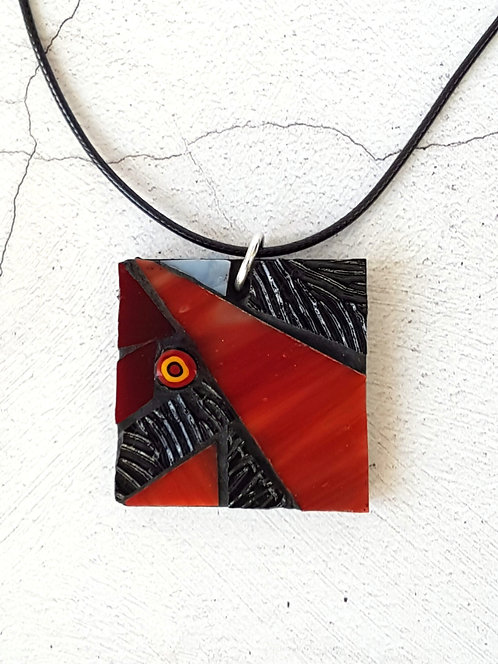 Red Mosaic Pendant
