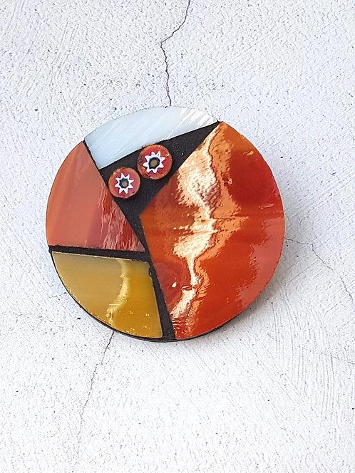 Autumnal Mosaic Brooch