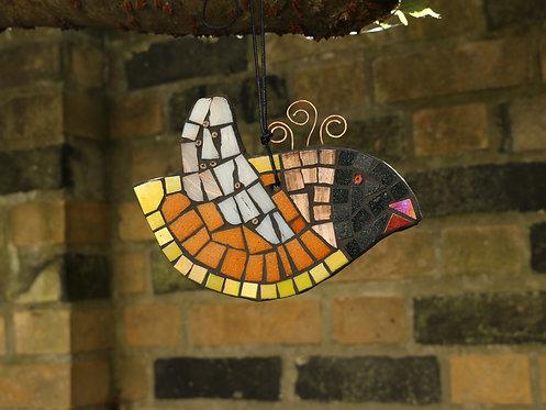 Orange and Yellow Winged Mosaic Bird