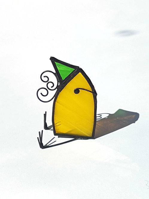 Bearded Yellow Bird