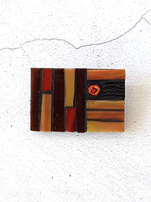 Brooch in Shades of Brown