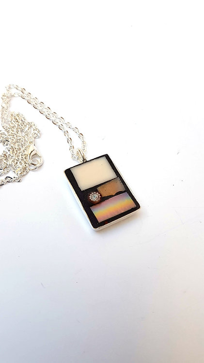 Rectangle Mosaic Pendant