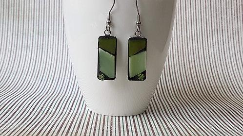 Shades of Green Mosaic Earrings
