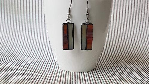 Rust Coloured Mosaic Earrings