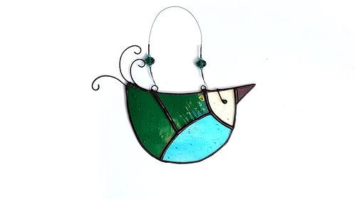 Green and Teal Glass U-bird