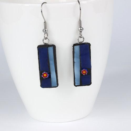 Shades of Blue Mosaic Earrings