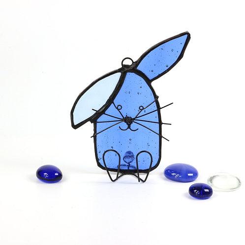 Blue Bunny with Floppy Ear