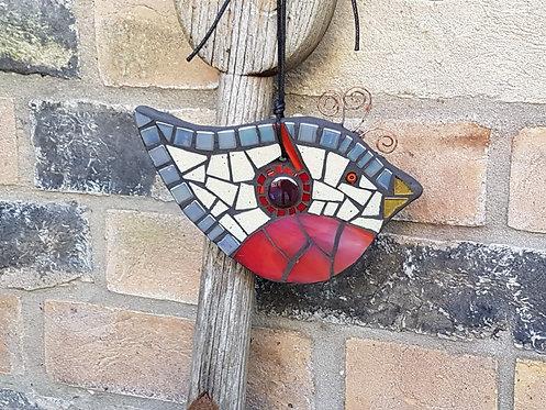 Bird Ornament, Garden Mosaic