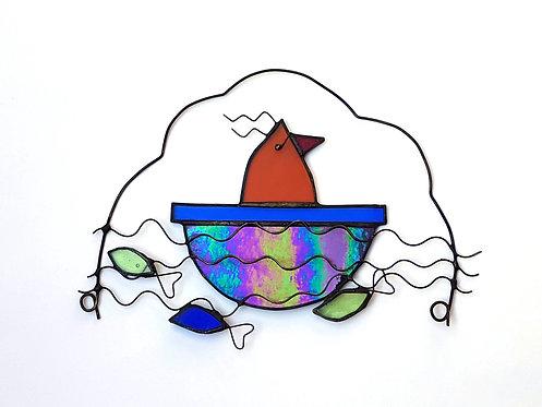 Bird in a Boat