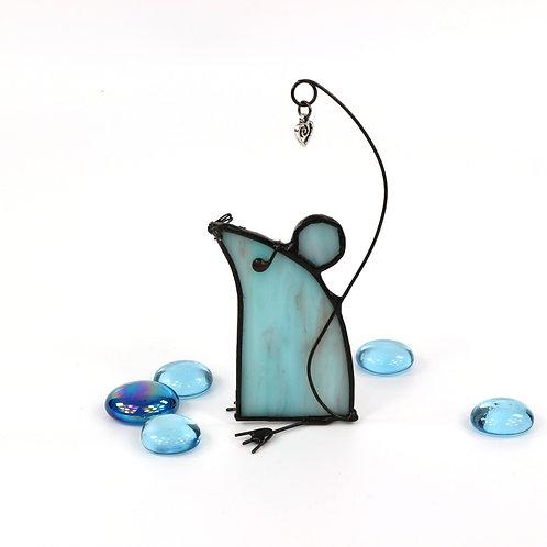 Aquamarine Mouse left facing