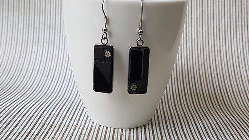 Black Mosaic Earrings