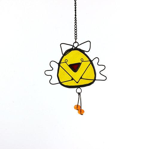 Flying Chick Egg Ornament