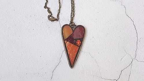 Autumn Heart Pendant