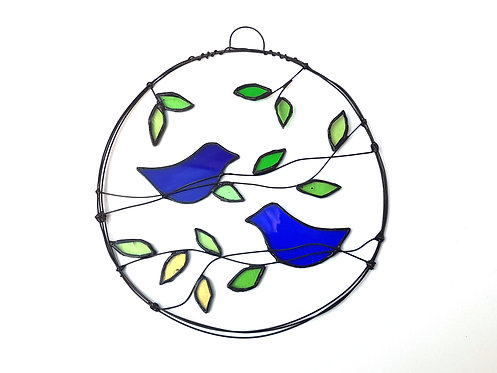 Wire Art Two Blue Birds