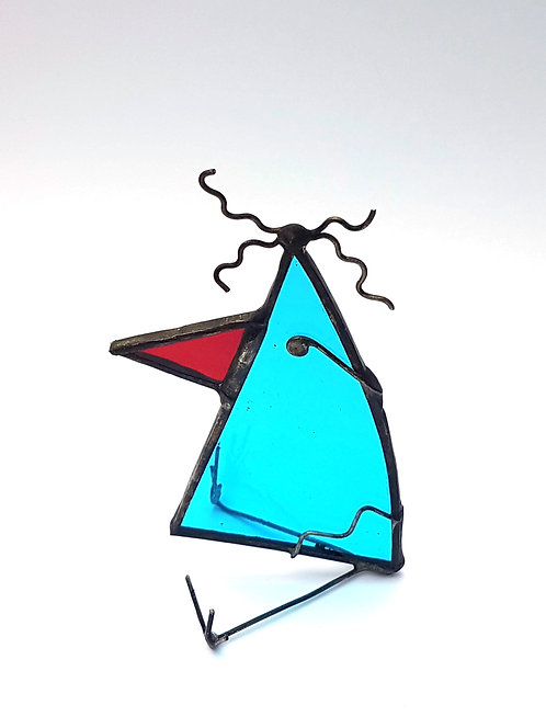 Turquoise Stained Glass Bird