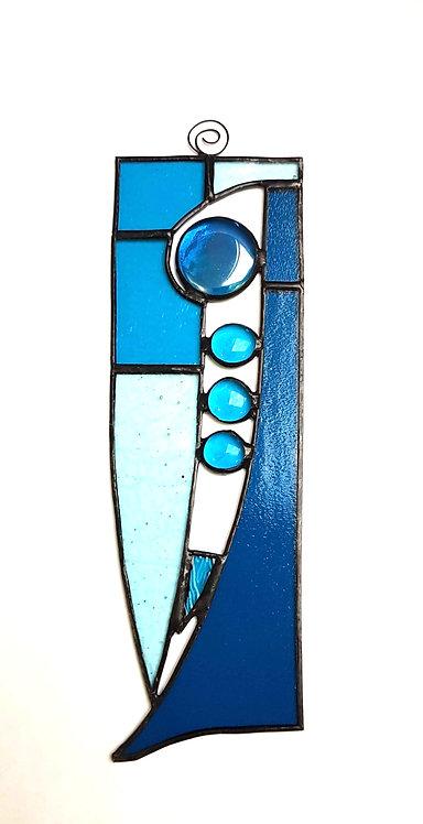 Blue Stained Glass Suncatcher