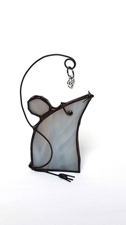 Grey Christmas Mouse
