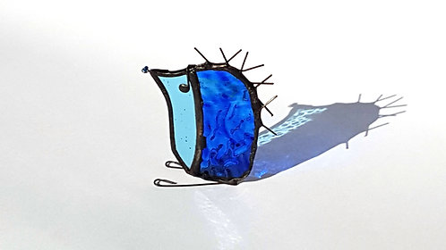 Blue Stained Glass Hedgehog