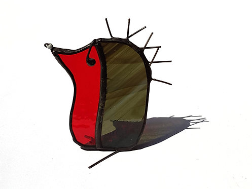 Red Stained Glass Hedgehog
