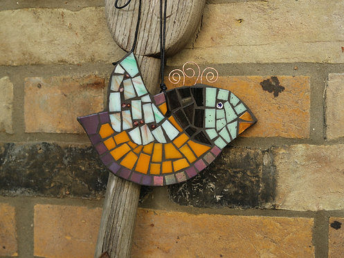 Orange Winged Mosaic Bird