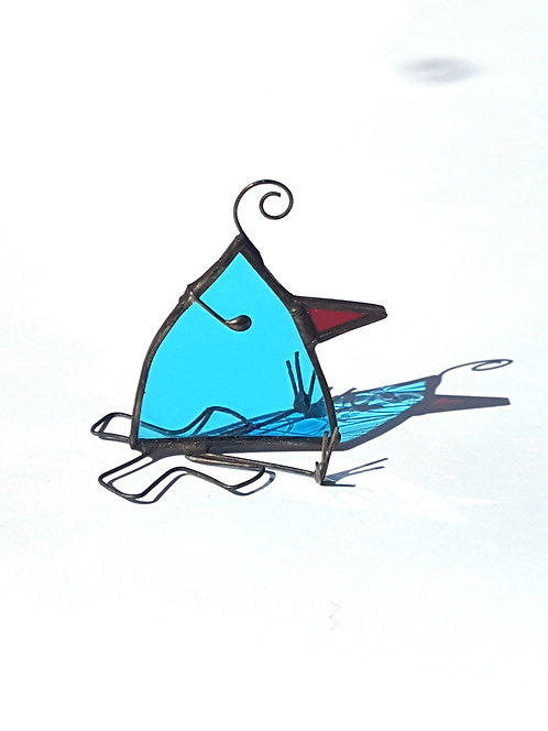 Ballerina Stained Glass Bird