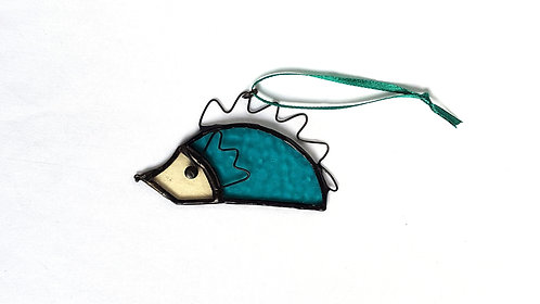 Hanging Stained Glass Hedgehog