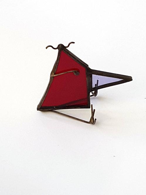 Red Stained Glass Little Tweetie Bird