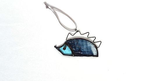Blue Hedgehog Ornament