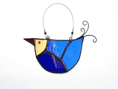 Blue Stained Glass U-bird