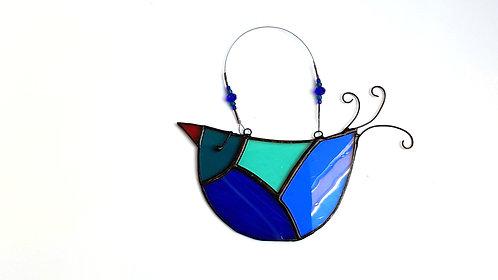 Shades of Blue and Green Glass U-bird