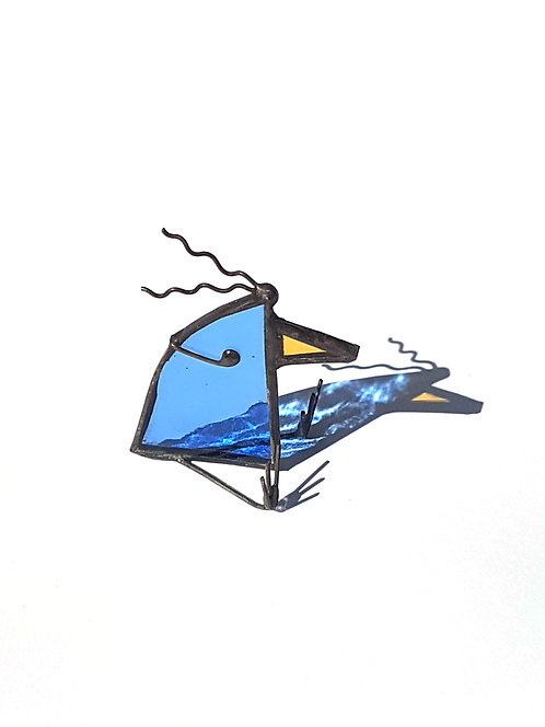 Crazy Bird in a Wind Storm