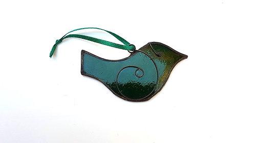 Green Bird Ornament