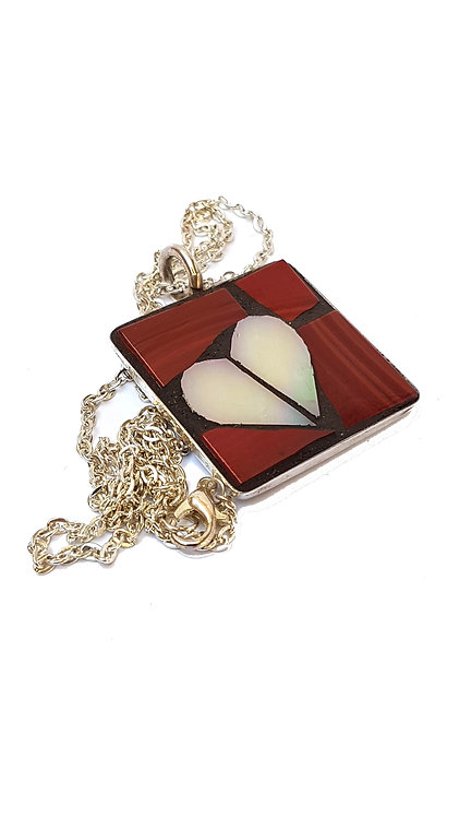 Red Heart Mosaic Pendant
